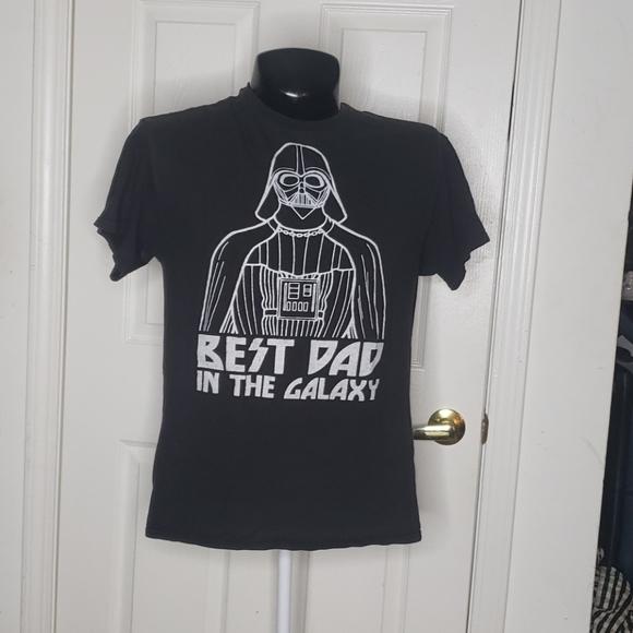 Star Wars Best Dad T-Shirt Darth Vader Large